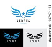 wings logo template.