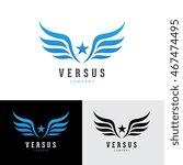 wings star logo template. | Shutterstock .eps vector #467474495