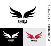 wings logo template. | Shutterstock .eps vector #467474549