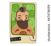 zodiac sign. cartoon aries man. ... | Shutterstock . vector #467478059