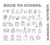 back to school doodles.... | Shutterstock .eps vector #467478074
