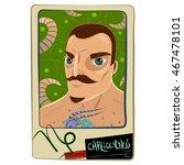zodiac sign. cartoon... | Shutterstock . vector #467478101