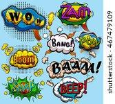 set of comic speech bubbles....   Shutterstock .eps vector #467479109