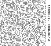 fast food menu. set of cartoon... | Shutterstock .eps vector #467480891