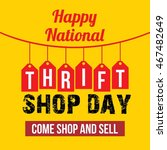thrift shop day vector... | Shutterstock .eps vector #467482649