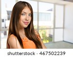 woman smiling with perfect smile | Shutterstock . vector #467502239