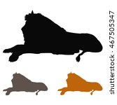 vector file of lion silhouette | Shutterstock .eps vector #467505347