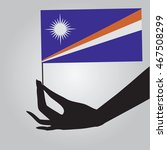 flag of marshall islands in a...
