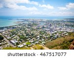 Townsville City Queensland Australia from Mt Stewart Lookout on a sunny day