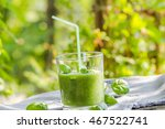 fresh mousse with cucumber ... | Shutterstock . vector #467522741