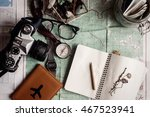 wanderlust and adventure... | Shutterstock . vector #467523941