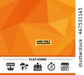 triangular low poly orange...   Shutterstock .eps vector #467531165