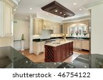 kitchen in new construction... | Shutterstock . vector #46754122