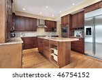 kitchen in luxury home with... | Shutterstock . vector #46754152