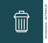 trashcan icon | Shutterstock .eps vector #467544119