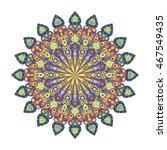 round mandala. arabic  indian ... | Shutterstock .eps vector #467549435