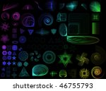 collection of lots of different ...   Shutterstock . vector #46755793