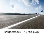 The New Asphalt Road Under The...