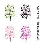 four versions of vector...   Shutterstock .eps vector #46756498
