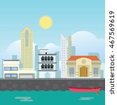 city landscape. cityscape ... | Shutterstock .eps vector #467569619