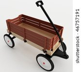 3d Rendering Of A Toy Wagon