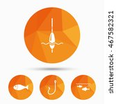 fishing icons. fish with... | Shutterstock .eps vector #467582321