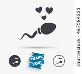 sperm sign icon. fertilization...   Shutterstock .eps vector #467584331