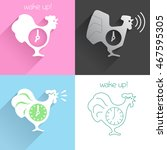 flat icon set of cocks with... | Shutterstock .eps vector #467595305