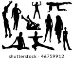 illustration of some women and... | Shutterstock . vector #46759912