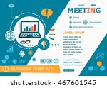 business meeting concepts of... | Shutterstock .eps vector #467601545