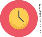 time is money flat circle icon | Shutterstock .eps vector #467602871