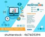 mentoring design concepts of... | Shutterstock .eps vector #467605394