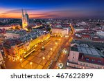 zagreb croatia at night. zagreb ... | Shutterstock . vector #467622899