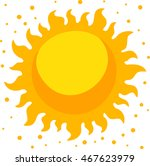 abstract summer sun. cartoon ... | Shutterstock .eps vector #467623979