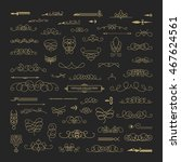 vintage decor elements and... | Shutterstock . vector #467624561