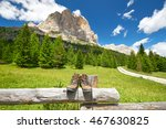 hiking tour with hiking boots... | Shutterstock . vector #467630825