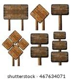 wooden signboard against white... | Shutterstock . vector #467634071