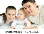happy family  father and baby... | Shutterstock . vector #46763866