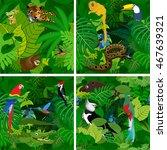 seamless vector tropical... | Shutterstock .eps vector #467639321