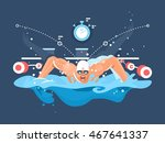 swimmer in competition | Shutterstock .eps vector #467641337