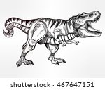 tyrannosaurus dinosaur. highly... | Shutterstock .eps vector #467647151