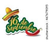 16 de septiembre  16th of... | Shutterstock .eps vector #467679095