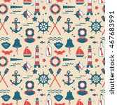 seamless texture from sailing... | Shutterstock .eps vector #467683991