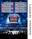 vector ice hockey arena board... | Shutterstock .eps vector #467692571