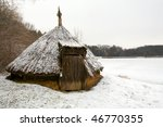 romanian traditional wood hut... | Shutterstock . vector #46770355