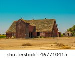 Old Barn With Lath Roof In...