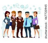 business  cartoon characters ... | Shutterstock .eps vector #467720945