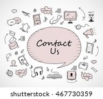 speech bubble  contact us icons ... | Shutterstock .eps vector #467730359