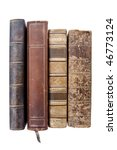 Old Leather Books Isolated On...