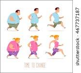 cartoon characters  different... | Shutterstock .eps vector #467737187